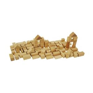 Heros Briques en bois naturel 50 pièces