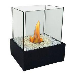 Purline Nympha - Cheminée de table moderne et épurée livré avec sa décoration