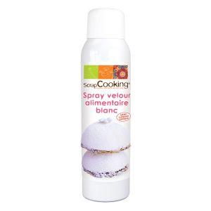 Scrapcooking Spray velours blanc - 150ml