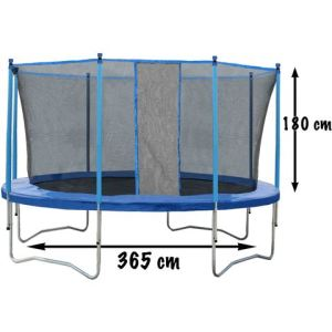 CDTS Trampoline 365 cm avec filet de protection