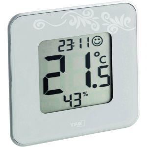 TFA Dostmann STYLE - Thermomètre hygromètre digital blanche