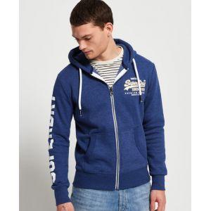 Superdry Sweat-shirt Vintage Logo Ziphood Bleu - Taille EU S,EU M,EU L,EU XL,EU XS