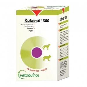 Vetoquinol Rubenal 300 pour chiens 60 comprimés