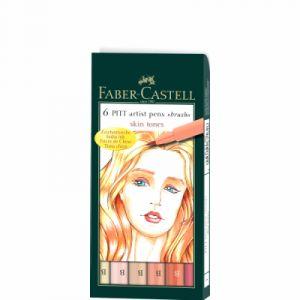 Faber-Castell 6 Pitt Artist Pen Set Skin Tones