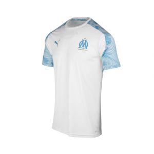 Puma Maillot d'entraînement Olympique de Marseille, Blanc/Bleu, Taille XXL  