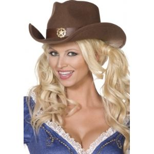 Chapeau cowboy shérif adulte