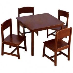 KidKraft Table de ferme et ses quatre chaises