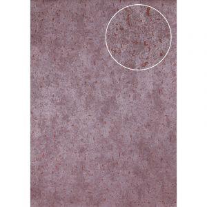 Atlas Papier peint aspect pierre carrelage ICO-3705-8 papier peint intissé lisse moucheté satiné pourpre rouge-vin 7,035 m2