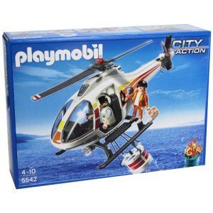 Playmobil 5542 City Action - Hélicoptère bombardier d'eau