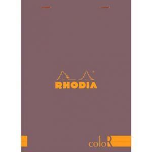 Rhodia 16963C - Bloc coloR N°16 chocolat format 14,8 x 21 cm 140 pages - ligné