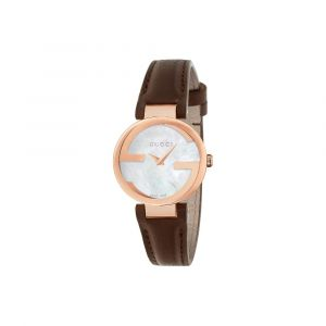 Gucci Montre Femme Interlocking Marron