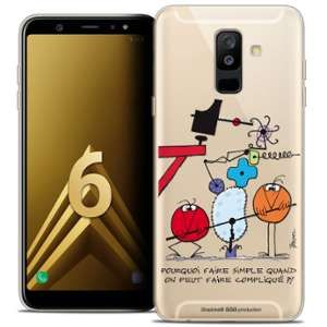 CaseInk Coque Gel Samsung Galaxy A6 PLUS 2018 (6 ) Extra Fine Les Shadoks® - Pourquoi faire Simple