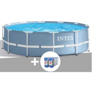Intex Kit piscine tubulaire Prism Frame ronde 3,66 x 0,99 m + 6 cartouches