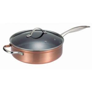 Kitchen pro Cuivre Excellence - Sauteuse avec couvercle et poignée (28 cm)
