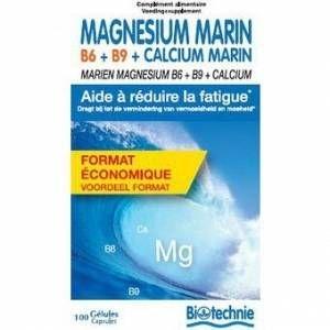 Biotechnie Magnésium marin B6 + B9 + Calcium