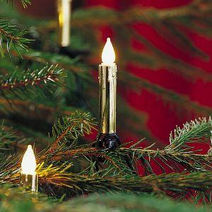 Konstsmide Guirlande de sapin 20 ampoules bougies or blanc chaud 7,20 mètres