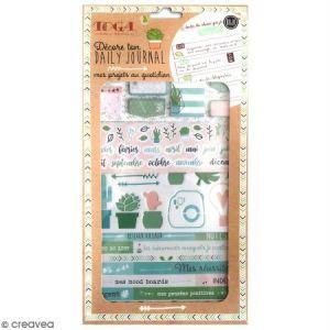 Toga Mes Projets au Quotidien Kit Accessoires Bullet Journal, Papier/Plastique, Rose - Rouge - Bleu, Pack : 15,8x30,5cm