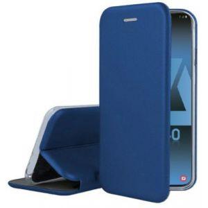 Ibroz Etui Samsung A40 Cuir bleu marine