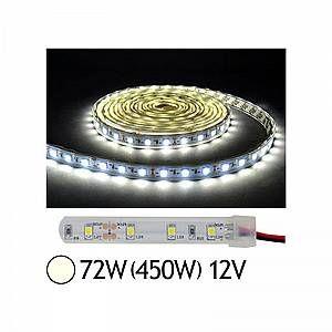 Vision-El Bandeau LED 72W (450W) 12V IP67 (Gaine silicone) Blanc jour 4000°K