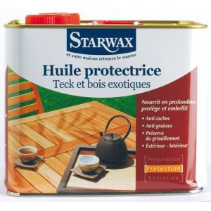 Starwax Huile protectrice - teck, bois exotique - 2 L