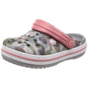 Crocs Crocband Camo Speck Clog, Sabots Mixte Enfant, Multicolore (Camo/light Grey) 33/34 EU