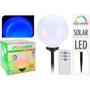 Lampe boule 25 cm solaire avec télécommande - P. OUTILLAGE