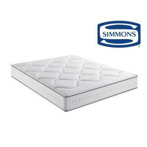 Simmons Matelas ressorts ensachés confort ferme Blanc - Taille 120x190 cm;140x190 cm;160x200 cm;90x190 cm