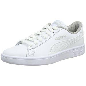 Puma Smash V2 L Jr, Sneakers Basses Mixte Enfant, Blanc White, 37 EU
