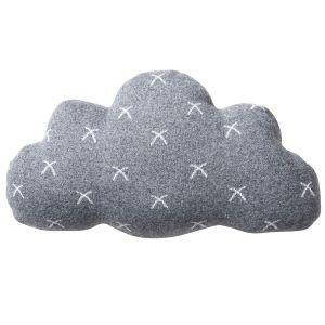 Noukie's Coussin nuage Gaby & Sam (Coton 100% Organique) Gris