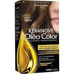 Kéranove Oléo Color 7.35 Marron noisette étincelant - Coloration permanente anti-dessèchement