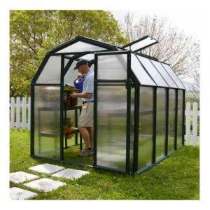 Palram Serre de jardin en polycarbonate Rion Eco Grow 5,36 m², Ancrage au sol Non - longueur : 2m63