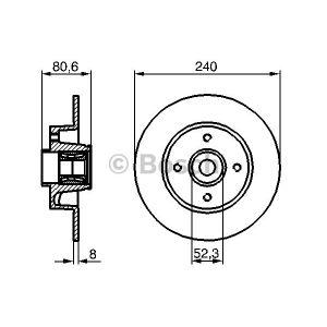 Bosch 0986479278 - Jeu de 2 Disques de frein