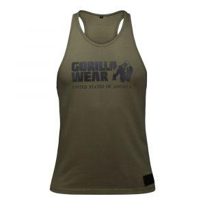 Gorilla wear Gym Shirt Homme - Débardeur Classique Stringer - S à 3XL Bodybuilding Muscle Fitness Muscle Shirt Army Green XL