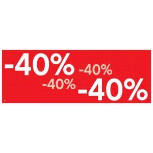APLI 14036 - Affiche préimprimée -40% , format 69x24 cm