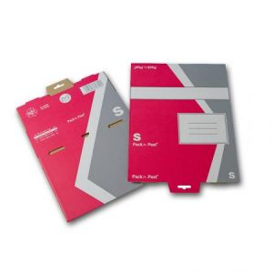Gpv 38806 - Boîte postale Pack'n Post 175x250x80 (format S), en carton simple cannelure, coloris rouge/gris