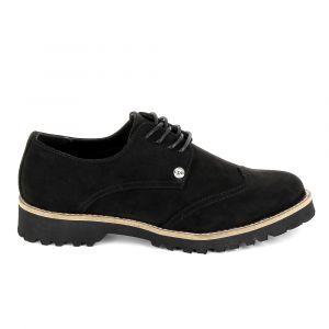 Les P'tites Bombes GIOVANNA - Chaussures à lacets Femme, Noir