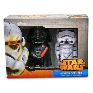 SD Toys Figurines antistress Darth Vader et Stormtrooper 14 cm