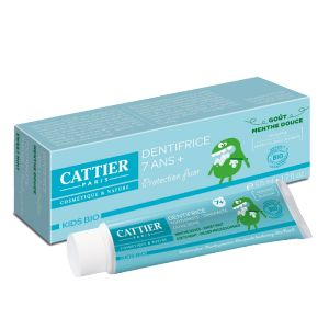 Cattier Kids Bio - Dentifrice sans sulfate pour enfant + 7 ans goût menthe douce (50 ml)