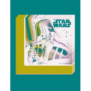 20 serviettes en papier Star Wars Final Battle (33 cm)