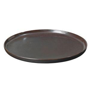 Broste Copenhagen Assiette plate en céramique carbone Esrum Night Broste Diamètre 28 cm