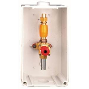 Banides et Debeaurain 701520 - Coffret BDVG de coupure avec robinet poussoir BD7015 à braser sur tube cuivre diamètre : 18