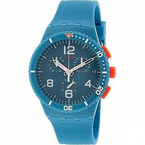 Swatch Montre Bracelet Mixte Chronographe Quartz Silicone susn406