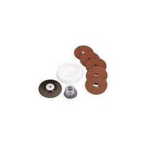Wolfcraft 2177000 - Set d'accessoires pour meuleuse