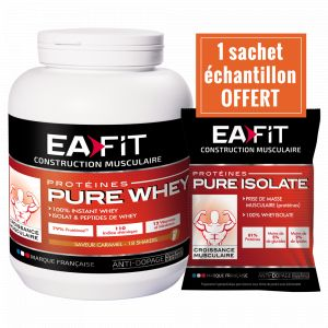 EA Fit Pure Whey croissance musculaire max yaourt fruits rouges