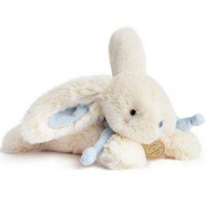 Doudou et Compagnie Peluche lapin bleu Bonbon (25 cm)