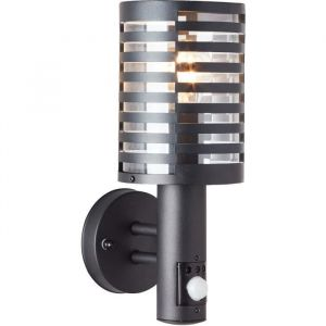 Brilliant AG VENLO Applique extérieure, avec détecteur - noir E27 1x40W non inclus