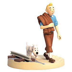 Figurine Tintin et Milou sur la voie ferrée