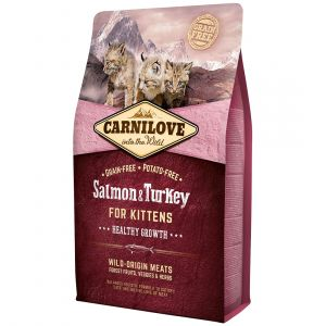 Carnilove Kittens Healthy Growth Salmon & Turkey - Sac 400 g