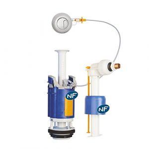 Regiplast Ensemble NF mécanisme universel à poussoir double débit et robinet flotteur