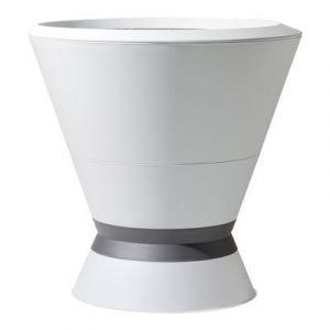 Eda Plastiques Pot de fleurs i-Kone grande vasque 105 L blanc/gris